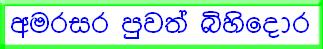 Amarasara Sinhala News